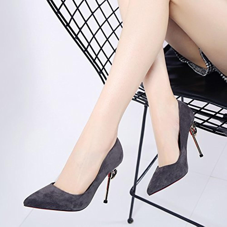 MDRW-Dame/Élégante/Travail/Loisirs/Printemps De L'Eau Pointe Fine De Forage Et 10Cm Chaussures Chaussures Chaussures High-Heeled Port...B0795DZKTDParent ba5f23