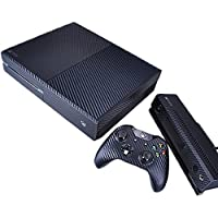 Pandaren® pieno maschere della pelle skin per le Xbox One console x 1 e controller x 2 e kinect x 1(Particelle di carbonio nero)