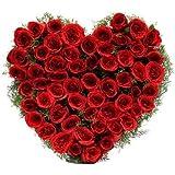 Floralbay Valentine Special Heart Shape Arrangement Of 100 Red Roses Fresh Flowers