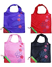 Levitas 4 Assorted Color Strawberry Foldable Shopping ECO Tote Bags