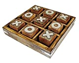 ShalinIndia Wooden Noughts and Crosses Tic Tac Toe Pedagogical Board Games for Kids