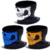 3 Piezas Bragas de Cuello de Calavera Bufanda Multiuso Máscara Facial de Tubo de Motocicleta (Multicolor)