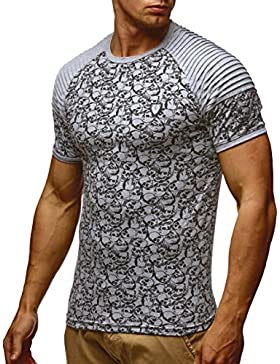 LEIF NELSON Herren T-Shirt Sweatshirt Slim Fit LN650