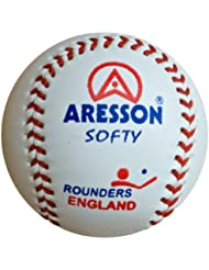 Aresson Softy - Pelota de rounders (19 cm), blanco