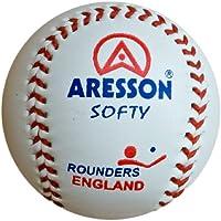 ARESSON Softy Balle d'entraînement cuir Rounders boule blanc