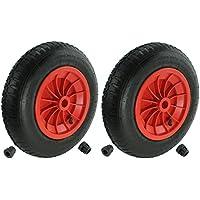 First4spares la carretilla-rueda, 3.50 - 8, 35.56 cm (35 cm), de la manguera, neumáticos, ejes de - Reductor, colour rojo