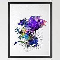 dignovel Studios Daenerys Drago Trono di Spade acquerello arte stampa Artistica Da Parete Hanging Home Decor Cameretta Bambini Stampa Fine Art motivazionale Art n366-unframed