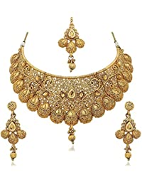 Sukkhi Jewellery Set for Women (Golden)(N71789GLDPM1250)