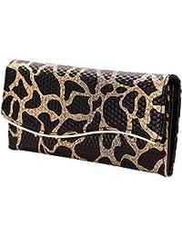 Leopardo Cartera Mujer Tarjetas Monedero de Cuero Bolsas Billetera Bolso de Noche