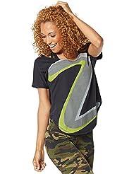 Zumba Fitness Z Tulip - Camiseta sin mangas para mujer, color negro, talla L