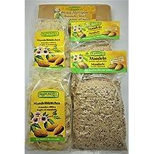 RAPUNZEL Back- Mix Set (700 gr) - Bio Mandeln geröstet und gemahlen, Mandelblättchen, Honig-Marzipan - Bio Backzutaten