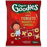 Organix Goodies Organiques Grivoises Zéros Et Croix Tomates Pour Les Tout-Petits De 12 Mois Et 15G - Lot De 2