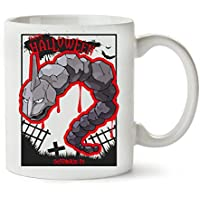 MugWorld Blood Onix Happy Halloween Pokemons Cemetery Anime Taza para Café ...