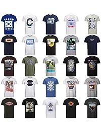 JACK & JONES T Shirt Herren 3er 6er 9er Mix Rundhals Tee Regular fit Baumwolle S M L XL XXL