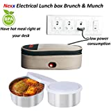 NEXX Electric Lunch Box With Bag, 25 W Brunch And Munch, 640ml (AB-48) - Pack Of 2