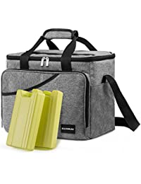 Cooler Bag - Canway 40-Can Large Cooler, Insulated Cooler Bag, Soft Sided Cooler Bag With 2 Ice Packs For Outdoor...
