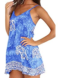 ZANZEA - Vestido - para mujer Azul azul vaquero 46