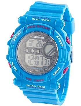 PEARL sports nc7391–944–Uhr, Gummi-Armband Blau