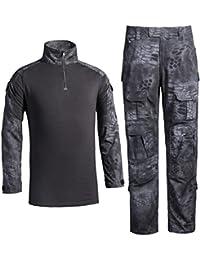 0bc08f83333f LANBAOSI Chemise de Combat Militaire Homme Uniforme Tactique Séchage Rapide  à Manches Longues   Pantalon Costume