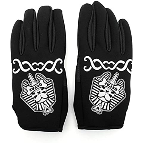 MaMaison007 Bici sport invernali calda Ciclismo pieno Finger Gloves -XL nera