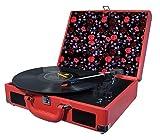 Halterrego H.Turn Platine Vinyle Rouge/Fleurs