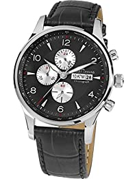 Jacques Lemans Herren-Armbanduhr London Analog Quarz Leder 1-1844A