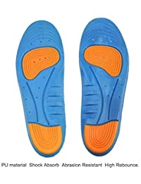 Silicone Gel Orthotic Arch Support Sport Shoe Massaging Insoles Insert Whit Shoe Shine Sponge (Size 7 to11)