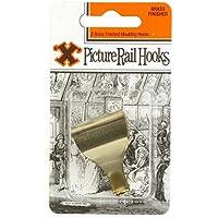 X Picture hooks - 2 Ganci appendi quadri in acciaio ottonato