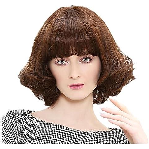 Meydlee ParruccheModa donna mescolata parrucche sintetiche Micro intrecciato traspirante Rose Net con cinghie regolabili parrucche naturali, cercando con 1 gratuita parrucca Cap e un Cosplay di pettine o usura quotidiana