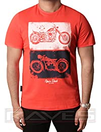 Hombres gráfico impresión camiseta diseñador algodón parte superior South Shore Dos Bicicletas S - 2XL