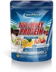 IronMaxx 100% Whey Protein / Whey Proteinpulver auf Wasserbasis / Eiweiß Pulver mit Erdbeere-Weiße Schokolade Geschmack / 1 x 500 g Beutel