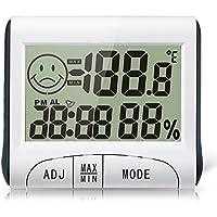 Goliton Higr¨®metro del reloj del probador Meter pantalla LCD humedad del term¨®metro de la temperatura