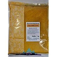 Pigment Ocker/Gelb 1kg Trockenfarbe, Eisenoxid für Beton, Putze, Gips