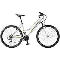 "Agece Sierra Bicicleta, Mujer, Blanco/Verde, 17"""