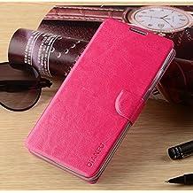 Prevoa ® 丨 Umi Emax Funda - Flip PU Funda Cover Case para Umi Emax 5,5 Pulgadas Smartphone - Hotpink