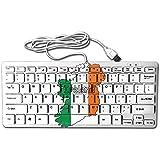 Ireland Flag Map-1 Mini Keyboard Wired Thin Light 78 Keys USB For Pc Computer Laptop
