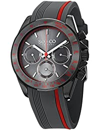 SO   CO New York Monticello Men s Quartz Watch with Grey Dial Analogue  Display and Grey 929d03ee0f