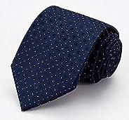 Men Business affairs Formal wear Blue Flower Tie Polyester filament Stripe Clip Cufflinks Hanky Box-packed Bri