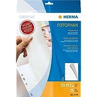 HERMA Photo cardboard 230x297 mm white 25 sheets - Sheet Protectors (230 x 297 mm, White, Paper, Portrait, 1 pc(s)) - Trova i prezzi più bassi su tvhomecinemaprezzi.eu