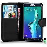 POUR Samsung Galaxy S7 Edge - SHUKAN® Prime Cuir NOIR Portefeuille Cas Coque Couverture VERT Cap