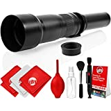 Opteka 650-1300mm High Definition Super Telephoto Zoom Lens For Panasonic Micro Four Thirds System Digital SLR Photo Cameras (Black) + Premium 8-Piece Cleaning Kit