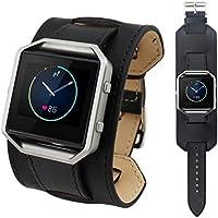 per Fitbit Blaze Smart Watch,Amlaiworld Guarda in pelle banda di lusso per Fitbit Blaze Smart Watch (nero)