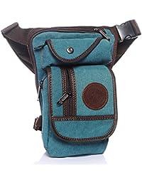 Outreo Bolsa de Pierna Bolso de Cintura Hombre Riñonera Pequeñas Bolsas de Viaje Bolsos de Tela Carteras Outdoor Sport Bag Movil…
