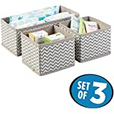 House of Quirk 3 Piece Non-Woven Closet Storage Box, Grey