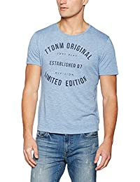 TOM TAILOR Denim Herren T-Shirt Crewneck Tee With Frontartwork