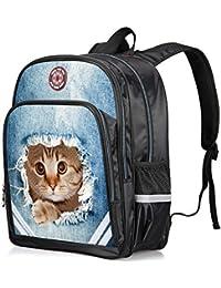 SUNLOVEBABY Cute Animal Print Childrens School Backpacks Kindergarten Kids Boys Travel Bags (14 Inch