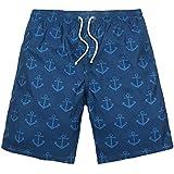 Seaside de secado rápido hombre Hot Spring Ocio Pantalones Cortos, azul, XXXL