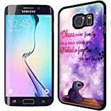 Lilo and Stitch cute family quotes galaxy for Samsung S6 Edge Black case