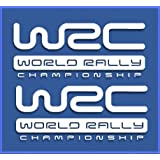 PEGATINAS WRC RALLY DR1009 VINILO ADESIVI DECAL AUFKLEBER КЛЕЙ STICKERS CAR VOITURE (BLANCO)