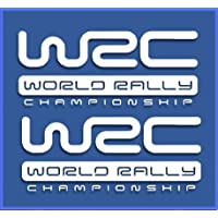 PEGATINAS WRC RALLY DR1009 VINILO ADESIVI DECAL AUFKLEBER КЛЕЙ STICKERS CAR VOITURE (BLANCO)